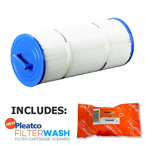 Dynasty Spas (Pleatco Cartridge Filter PPM50SC-F2M 50 sq ft Marquis Leisure Bay Dynasty Spas R173584 w/ 1x Filter Wash)