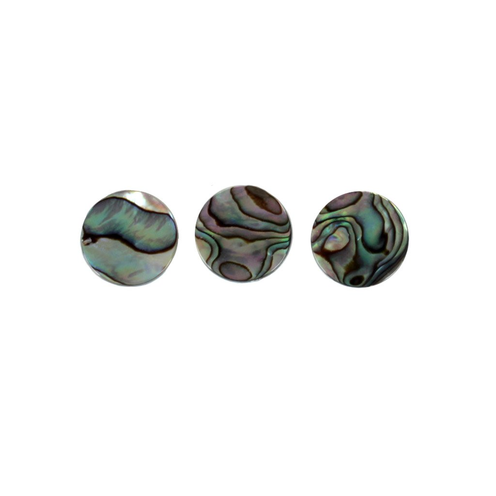Trumpet  KEY BUTTONS REAL ABOLONE SHELL INLAYS NEW 3 PCS