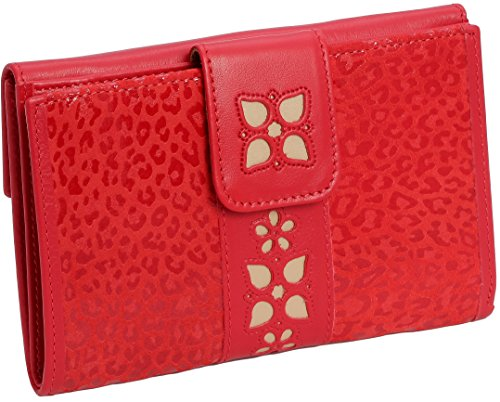 100% Genuine Leather Purse / Wallet For Women- Handmade In Spain - Beautiful Colors Available - Boxed Cas-27716-ro