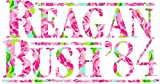 reagan bush decal - Reagan Bush 84 - First Impression Lilly Pulitzer Sticker Decal Bumper Sticker Window Vinyl Made in USA 5
