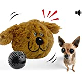 YOGADOG Interactive Plush Squeaky Dog Toys, Crazy Bouncer, Electronic motion Pet Toy for Prevent Boredom (Doggy)