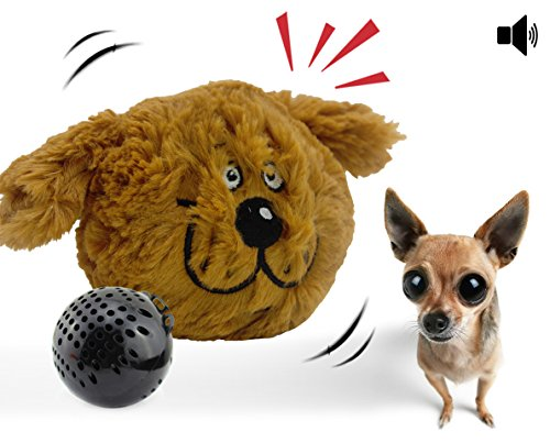 YOGADOG Interactive Plush Squeaky Dog Toys, Crazy Bouncer, Electronic Motion Pet Toy for Prevent Boredom (Doggy)]()