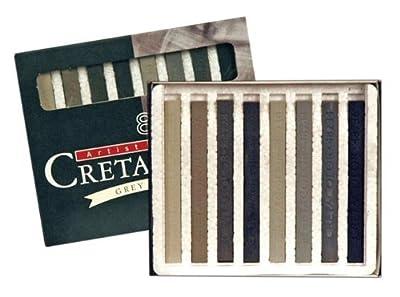 Cretacolor Grey Chalk Pastels 8 Sticks