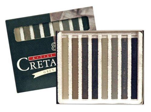 Cretacolor Grey Chalk Pastels 8 Sticks by Cretacolor