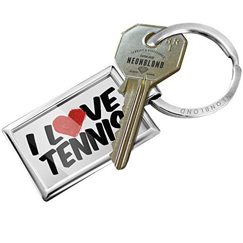 Keychain I Love Tennis - NEONBLOND (Love Tennis Key Ring)