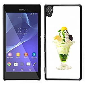 LECELL--Funda protectora / Cubierta / Piel For Sony Xperia T3 -- Helado delicioso divertido --