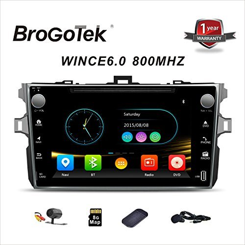 Android 7.1 Car Stereo Head Unit for Toyota Camry Corolla 2006-2011 Car Radio Double Din GPS Navi Navigation 9 Inch IPS Panel Touch Screen Bluetooth Radio SWC 4G WiFi CAM-in (Toyota Corolla)