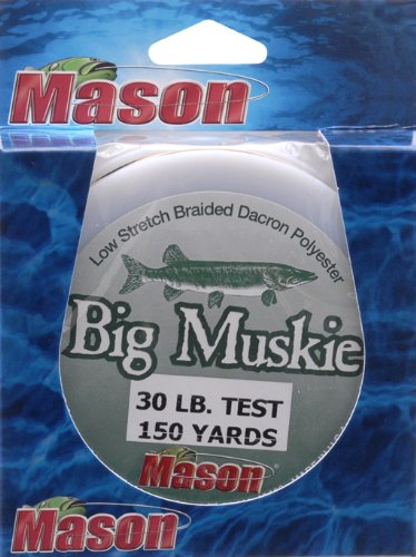 MASON Big Muskie Line 30# , Black, 150-Yard by Mason