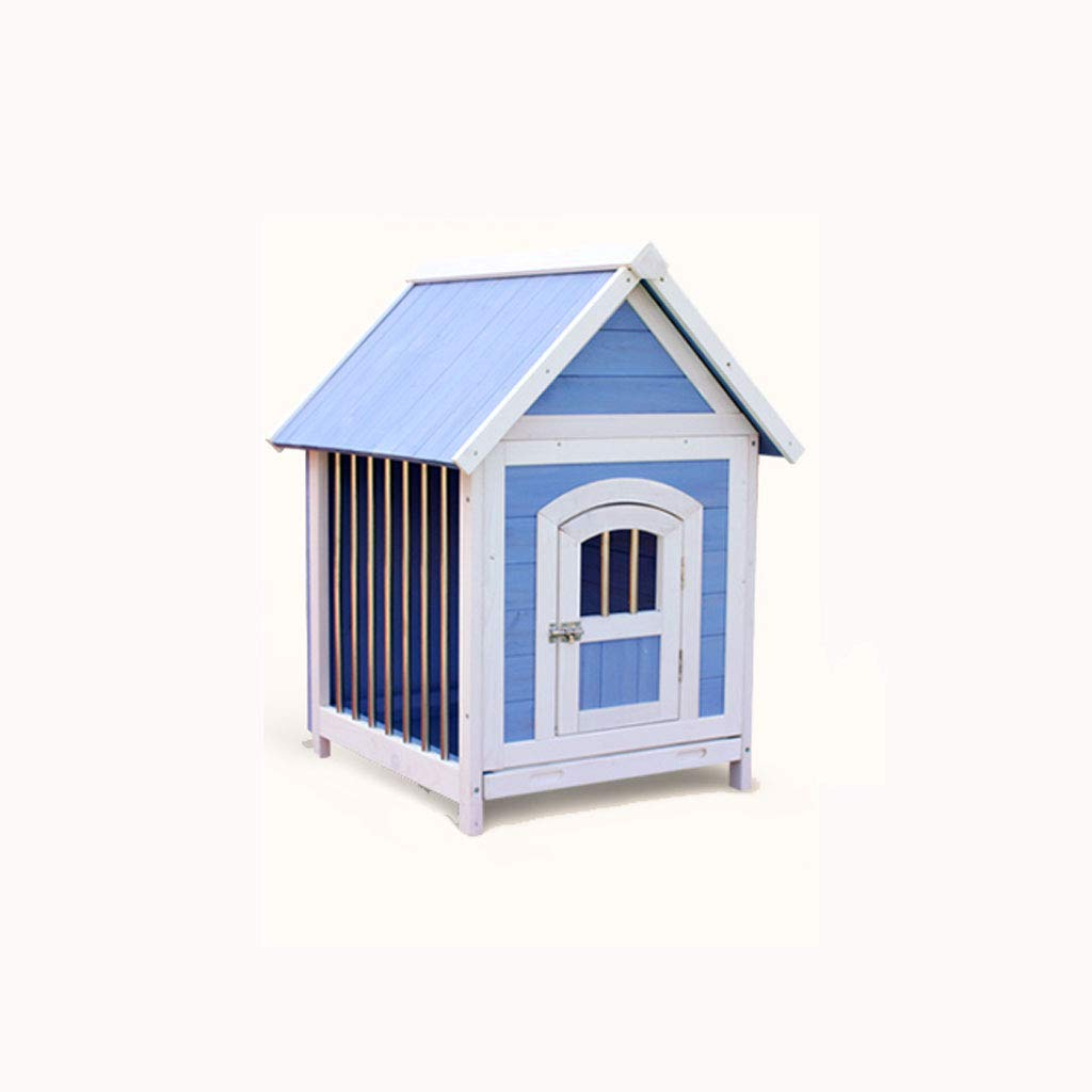 Lijin light Perrera Azul y Blanca Perrera Perro casa de Madera Maciza Perro pequeño Interior Que Oso casa de Perro casa Cachorro de Madera Mascota Mantener ...