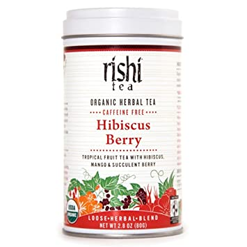 Amazoncom Rishi Tea Organic Hibiscus Berry Tea 80 Gram Herbal