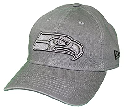 New Era Seattle Seahawks NFL 9Twenty Classic Tonal Adjustable Graphite Hat by New Era