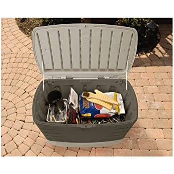 Amazon Com Grill Accessories Storage Box Bbq Grill Deck Container With Double Walls Weather