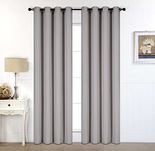 Rama Rose Grommets Curtain 54″ W x 90″ L,Faux Linen Darkening – Extra-Long Drop Curtain Panel Allows Partial Light for Shading, Full Size Curtain Create Privacy (Taupe),Set of 1 panel