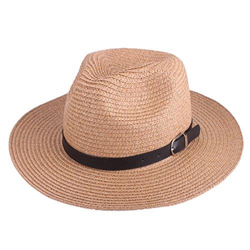 SHARBAY INC Women's Sun Hat - Floppy Straw Panama Roll up Hat Big Foldable Roll up UV Protection Summer Beach Wide Brim Cap UPF50+ (6606 Light (Cute Ways To Dress Up)
