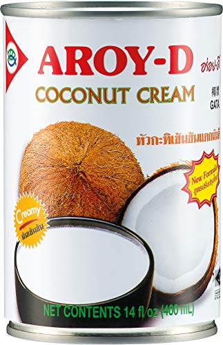 Aroy D 코코넛 크림, 지방: 4 팩 (4 x 400 ml)