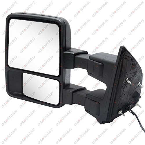 (SCITOO View Mirror Power Heated Led Smoke Signal fit 2008-2016 Ford F250 F350 F450 F550 Super Duty Left Towing Mirror (Left))