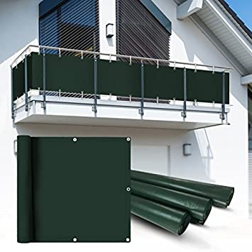 Amazon De Balkon Sichtschutz 6x0 75 M Grun Balkonsichtschutz