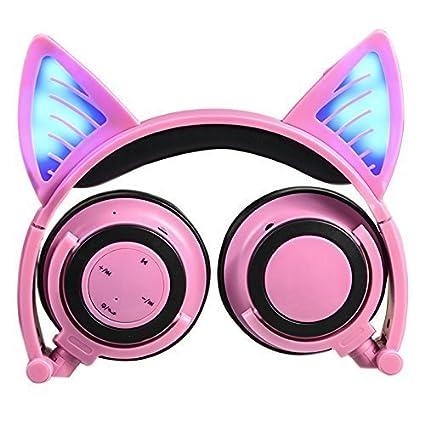 Auriculares de diadema con micrófono y control de volumen, Bluetooth, inalá