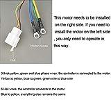 Electric Brushless DC Motor Complete Kit, 48V 2000W