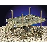 Penn-Plax Decorative Turtle Pier Floating/Basking Platform, Large