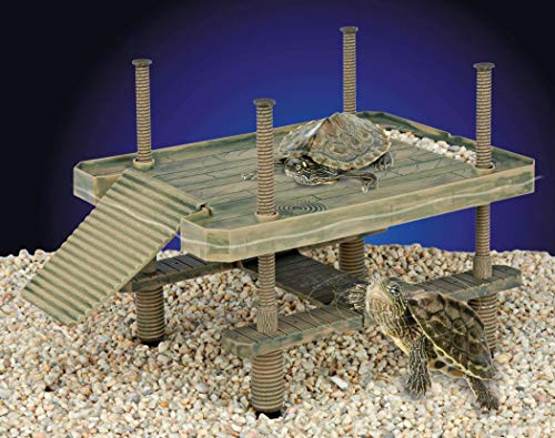 Penn Plax Decorative Turtle Pier Floating/Basking Platform, -