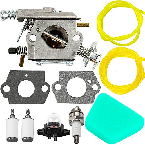 Chainsaw Walbro Carburetor - Mckin Carburetor Air Filter Carb Fuel Line Spark Plug Carb For Poulan Chainsaw 1950 2050 2150 2375 Wild Thing 2375LE Walbro WT 89 891 WT-324 Zama C1U-W8 C1U-W14 Replace# 545081885