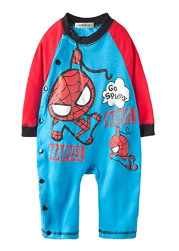 StylesILove Spiderman Cartoon Baby Boy Romper (12-18 months/80,Multicoloured)