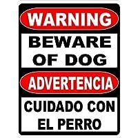 aqf527907 Placa de Advertencia de Advertencia bilingüe