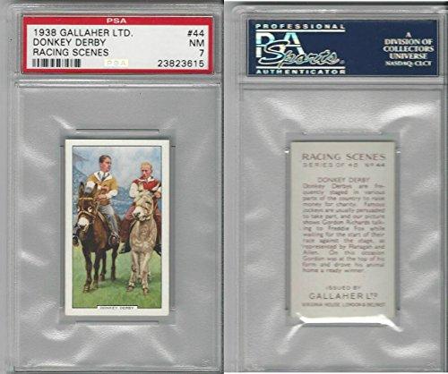 (G12-94 Gallaher, Racing Scenes, 1938, 44 Donkey Derby, PSA 7)