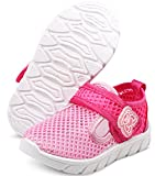 DADAWEN Baby's Boy's Girl's Water Shoes Lightweight Breathable Mesh Running Sneakers Sandals Pink US Size 9 M Toddler