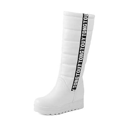 AdeeSu Sxc02005, Plateforme Femme - Blanc - Blanc, 36.5 EU