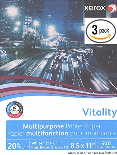 - Xerox Vitality Business 4200 Multipurpose Copy Laser Inkjet Printer Paper, 8 1/2 x 11 Inch Letter, 20 lb. Density, 92 Bright White, ColorLok, 3 Ream Pack, 1500 Total Sheets (3R02047-3 Ream Multipack)