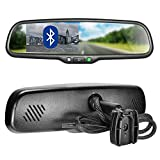 """Master Tailgaters OEM Bluetooth Rear View Mirror with 4.3"""" Auto Adjusting Brightness LCD - Universal Fit, Hands Free Calling w/Built in Speaker & Microphone"""