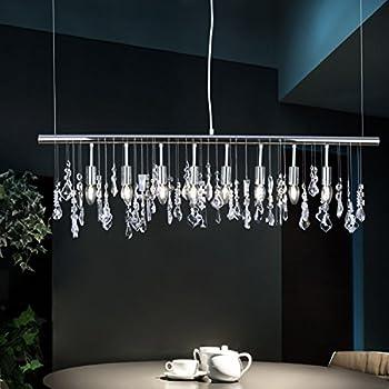 Modern k9 crystal pendant light e12 ceiling lighting drop chandelier modern k9 crystal pendant light e12 ceiling lighting drop chandelier lamp 40 hanging lights chrome aloadofball Choice Image