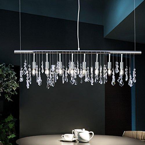 Modern K9 Crystal Pendant Light E12 Ceiling Lighting Drop Chandelier Lamp 40