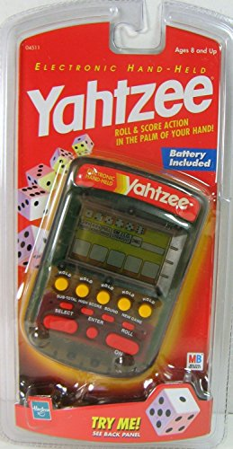 YAHTZEE Electronic Handheld Game 1999 CLEAR CASE EDITION (NEW) by Milton Bradley