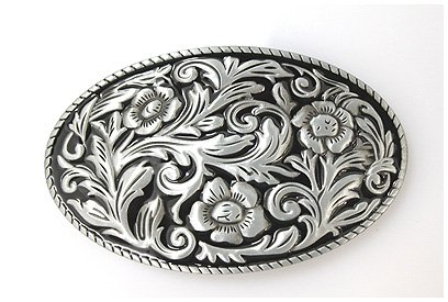 Brand:choi Chased Engraved Enameled Western Style Scene Belt Buckle - Scene Buckle