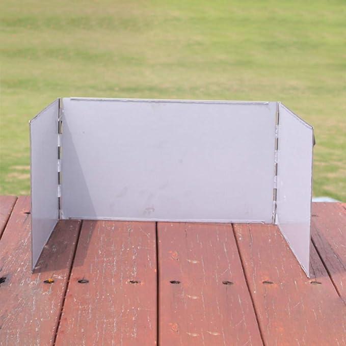 CUTICATE Universal Windschutz Campingk/üche Spritzschutz aus Aluminiumlegierung