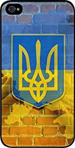 Ukraine Flag-Wall-Art- Case for the Apple Iphone 5-5s Universal- Hard Black Plastic Snap On Case