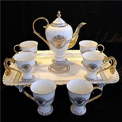 Juego de café de lujo de cerámica / juego de té / taza de café europea