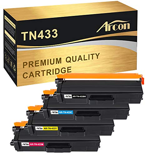 Arcon Compatible Toner Cartridge Replacement for Brother TN433 TN-433 TN431 HL-L8360CDW MFC-L8900CDW HL-L8360CDWT HLL8260CDW HLL8360CDW MFC-L8610CDW L8360cdw Color Laser All-in-One Priner TN433 Toner