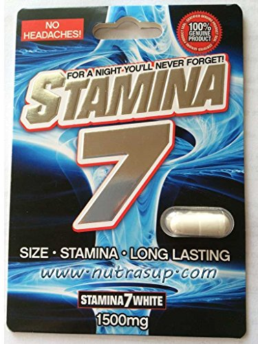 Stamina 7 White 1500mg Pill Male Sexual Performance 6 Pills