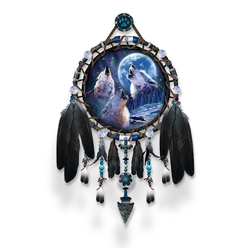 Howling Wolf Plate - The Bradford Exchange Dreamcatcher Collector Plate: Wolf Songs