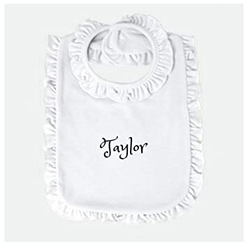 Your Text Here BABY BIB christening Personalised Baby gift funny baby shower