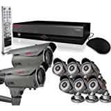 Home Monitoring Surveillance Security Camera System Indoor/Outdoor - 16Ch 4TB DVR with Set of 8 700TVL (Bullet and Turret) CCTV Cameras - REVO America America
