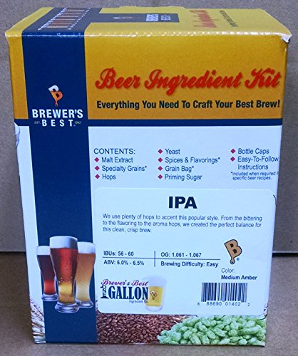 Brewer's Best One Gallon Home Brew Beer Ingredient Kit (IPA (India Pale Ale))