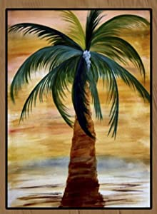 Palm Tree Area Rugs (Golden Palm Tree, 60 X 36 Vertical)