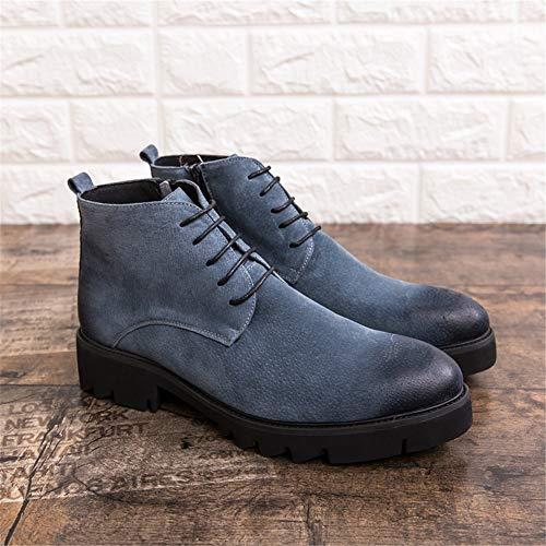 Superior Cremallera Vellón Moda Juvenil Botas Yajie De Estilo boots Con Invierno Opcional convencional Altas Británico Falso Lateral Casual Para Interior Hombres ZwFOq