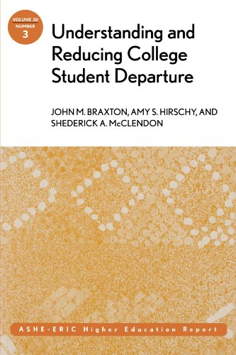 Understanding and Reducing College Student Departure: ASHE-ERIC Higher Education Report, Volume 30, Number 3