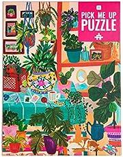 Talking Tables Legpuzzel kamerplant 1000 stukjes - met bijpassende plantenposter en trivia-blad,kleurrijk geïllustreerd ontwerp, verjaardagscadeau, cadeaus voor vrouwen, kunst aan de muur